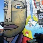 Vandervoort Place, Jim Avignon, mural, detail